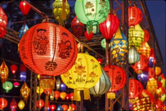Lanterns celebrating Lunar New Year